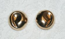 VINTAGE MOULAGE MODELE STERLING CLIP ON EARRINGS SIGNED GUC