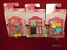 Lot Of 3 Packs Of Barbie Doll Fashion Accessories Handbags, Shoes, Headbands
