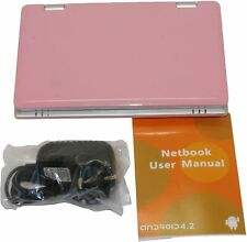 "Portable 7"" Netbook Laptop for Kids, Powered by Android 5.1 OS,HDMI,WIFI- Pink"