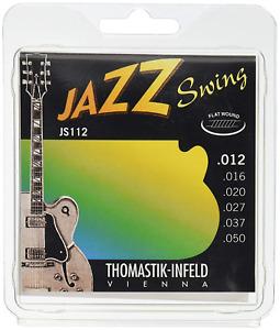 Thomastik Strings for Electric Guitar Jazz Swing Series Nickel Flat Wound Set