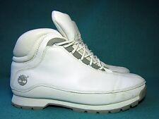 Timberland Uomo in Pelle Bianca Hiker Boots US 9,5 m / UK 9 / EU 43,5