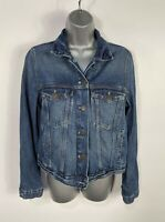 WOMENS MARKS&SPENCER M&S SIZE UK 12 MID  BLUE WASH CASUAL DENIM JEAN JACKET COAT
