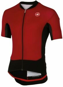 Castelli RS Superleggera Men's Cycling Jersey : SEE Video : Ruby Red- Medium