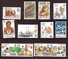 ILES SOLOMON   timbres neufs :série 4 T #sc 635-638 + 8T sujets divers PR602