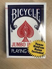 Bicycle JUMBO INDEX  Playing Cards Rider Back Blue Red Poker Deck BRAND NEW!