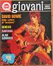 QUI GIOVANI 21 1973 David Bowie Genesis Alan Sorrenti Santana Gary Glitter moda