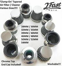 Chrome Clamp On Air Filter Cleaner Custom Tomos Sachs Scooter Moped Universal