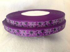 9mm Purple Spiders Grosgrain  Ribbon  3 Meters Length  HairBows Craft Scrapbook