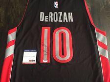 SIGNED PSA/DNA DEMAR DEROZAN SWINGMAN REVOLUTION JERSEY! RAPTORS NBA AUTO COA!
