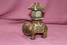 "Porcelain Enamel Ceramic Elephant Made in Japan 5"" Tall 4.5"" Long -Marked"