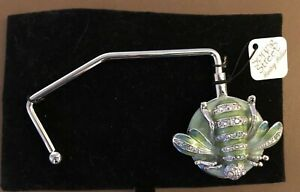 Spring Street Green Jeweled Insect (Bee?)  Handbag Holder NWT
