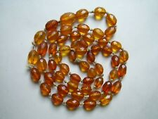 Butterscoth Amber Necklace. Needs Re-Threading Antique Long Facetted Art Deco