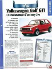 VW Volkswagen Golf GTI 4 Cyl. 1976 Germany Allemagne Car Auto Retro FICHE FRANCE