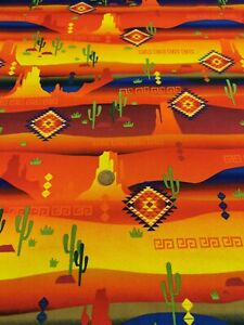 Mexican Mexico desert South West pets 100% Cotton Quilting craft m'liss