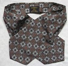 Cravat Tootal Vintage Mens 1960s 1970s MOD GREY BROWN BLACK