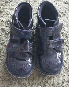 Kickers black butterfly boots size 27 UK size 9 infant