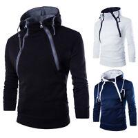 Men Winter Slim Hoodie Warm Coat Hooded Sweatshirt Hoody Jacket Outwear Sweater