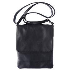 Borsa a Tracolla Cuoio Pelle Leather Crossbody bag Italian Made In Italy 414 bk