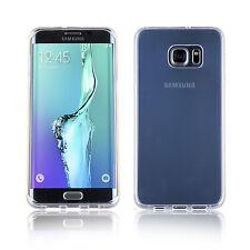 Samsung Galaxy S6 + Plus Ultra Delgado Transparente Edge Gel De Silicona Funda Cubierta Protector