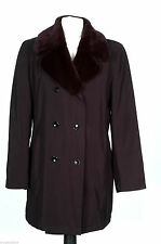Women's No Pattern Knee Length Double Breasted Outdoor Coats & Jackets