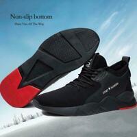 Herren Heavy Duty Sneaker Arbeitsschuhe Anti Slip weiche atmungsaktive Schu J7I9