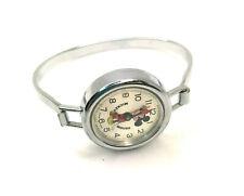 Vintage Bradley Walt Disney Mickey Mouse Swiss Made Base Metal Silver Tone Watch