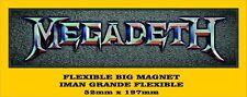 MEGADETH FLEXIBLE BIG MAGNET IMÁN GRANDE A0104
