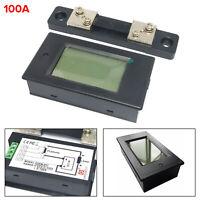 DC100V 100A Digital Medidor Alimentación Corriente Tensión w/Shunt