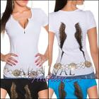 NEW SEXY LADIES CASUAL WEAR wing TOPS online shopping XS S M L WOMEN'S T SHIRTS