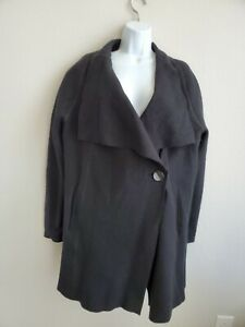 $629 NWT OSKA Jacke Alba Black Jacket Size 4 One Side Button
