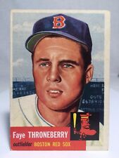1953 Topps #49 Faye Throneberry Card Boston Red Sox