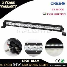 20inch 54W Cree LED Light Bar Spot Car Driving Offroad Lamp ATV Boat Truck Motor