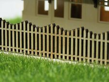 HO PICKET FENCE Wave top 18mm high 4 x 100mm Laser cut Pine New 10003