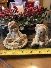 Lot Of 2- Priscilla Hillman Enesco Kitten Figurines 1992 Cats