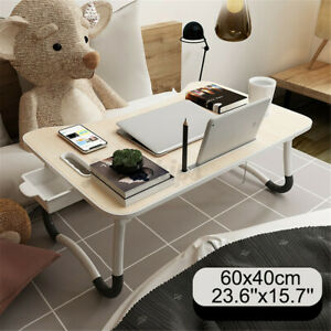 Portable Laptop Notebook Table Adjustable Stand Bed Tray Computer Desk W/ Drawer