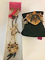 BETSEY JOHNSON BRACELET, EARRINGS, NECKLACE SET BOUGHT AND SOLD IN USA