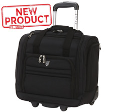 16 Inch Carry On Luggage Rolling Underseater Travel Wheels Under Seat Black NEW