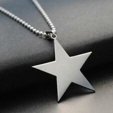 STAINLESS STEEL STAR NECKLACE 316L Metal Pendant 70cm Ball Chain NEW Silver