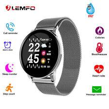 Lemfo Smartwatch Herzfrequenz Pulsuhr Blutdruck Schrittzähler Fitness Tracker