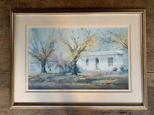 LRG FRAMED ORIGINAL WATER COLOUR PAINTING SIGNED BY ARTIST JUDITH ROBERTS.