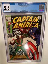 Captain America #117 CGC 5.5 1st app Falcon Sam Wilson HOT KEY Disney MCU
