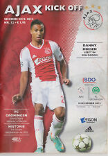 Programma / Programme Ajax Amsterdam v FC Groningen 05-12-2012