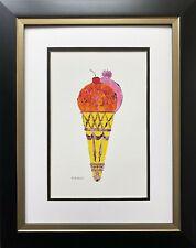 "Andy Warhol ""Ice Cream Dessert '59"" CUSTOM FRAMED Pop Art Iconic Kitchen  Food"