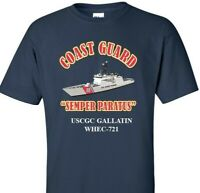 USCGC GALLATIN  WHEC-721 *COAST GUARD  VINYL PRINT SHIRT/SWEAT