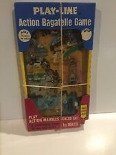 """1972 Vintage (Marx Toys) """"Play-Line"""" (Marbles) """"Action Bagatelle Game"""", Rare!"""