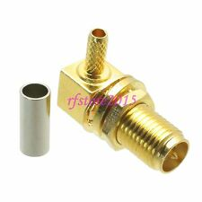 10pcs Connector RP-SMA female nut crimp RG316 RG174 LMR100 COAXIAL Right angle
