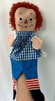 Vintage Knickerbocker Raggedy Andy Hand Puppet Made In Japan Original