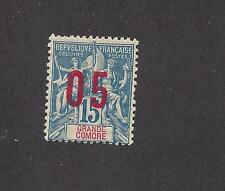 """GRAND COMORO 22a - MH-WIDE SPACING- 1912  - O/P  ON """"NAVIGATION AND COMMERCE"""" -"""