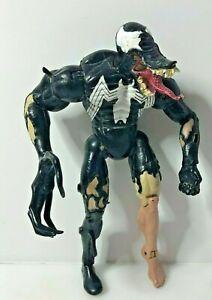"2001 Marvel Legends Venom Spiderman classics 7 "" inch Action Figure toybiz (L4)"