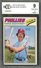 Mike Schmidt Card 1977 O-Pee-Chee #245 Philadelphia Phillies BGS BCCG 9